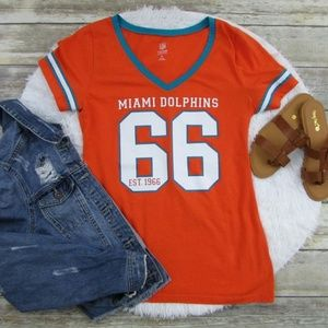 Old Navy NFL Miami Dolphins Team Tee Orange Size L